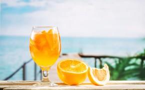 Картинка пляж, лето, отдых, апельсин, сок, juice, ice, summer, beach, каникулы, fresh, fruit, orange, drink, vacation, ...