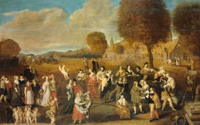 Картинка масло, картина, 1647, 1Hendrik Noorderwiel, Аллегория о браке, Свадебная ловушка