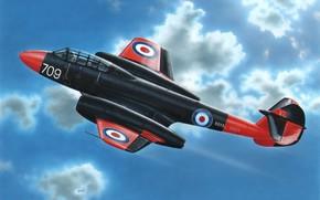 Картинка art, airplane, jet, glostermeteor