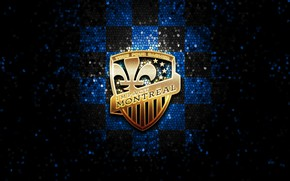 Картинка wallpaper, sport, logo, football, glitter, checkered, MLS, Montreal Impact