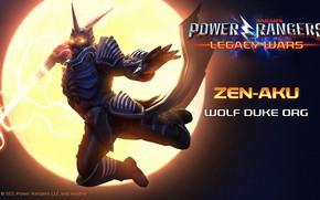 Картинка волк, moon, game, weapon, wolf, герцог, warrior, full moon, Power Rangers, duke, Power Rangers: Legacy …