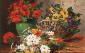 Картинка цветы, корзина, ваза, CAUCHOIS