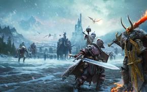 Картинка хаос, chaos, Архаон Всеизбранный, Вульфрик Странник, Warhammer Fantasy Battle