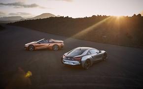 Картинка закат, Roadster, Coupe, 2018, BMW i8