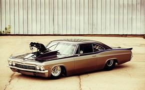 Картинка Car, Chevy, Impala, Engine, Super Charger, 1965 Year