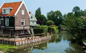 Обои пейзаж, озеро, дом