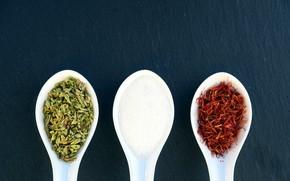 Картинка salt, spoons, ingredients