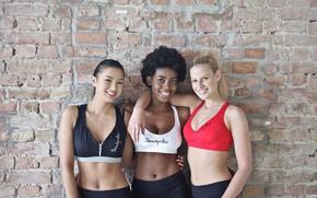 Картинка wall, girls, fitness