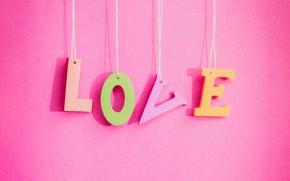Картинка любовь, фон, розовый, love, pink, romantic, letters