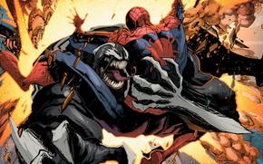 Картинка комиксы, человек паук, Веном, Venom