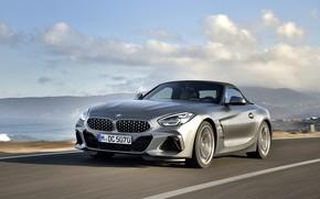 Картинка облака, серый, BMW, родстер, BMW Z4, M40i, Z4, 2019, G29
