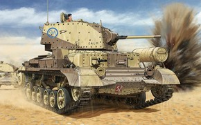 Картинка британский крейсерский танк, лёгкий по массе, A10 Mk.IA, Cruiser Tank Mk. IIA