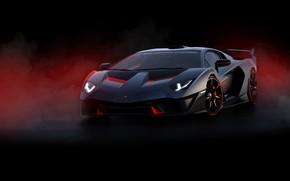 Картинка машина, фон, Lamborghini, Lamborghini Aventador, SC18 ALSTON EVO, Lamborghini SC18 Alston, SC18 Alston, by Hưng …