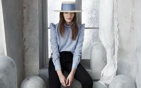 Картинка стиль, шляпа, модель