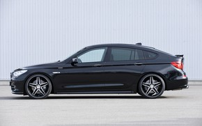 Картинка стена, BMW, профиль, Hamann, 2010, диски, Gran Turismo, 550i, 5er, F07, 5-series, GT