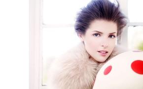 Картинка взгляд, поза, макияж, актриса, певица, hair, Anna Kendrick, Анна Кендрик