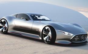 Картинка Concept, Авто, Черный, Игра, Япония, Машина, Mercedes, Benz, Фары, Vision, Гонки, Mercedes- Benz, Gran Turismo …