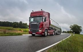 Картинка road, Scania, R730, tanker