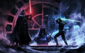 Картинка Darth Vader, джедай, Дарт Вейдер, световой меч, ситх, lightsaber, jedi, Luke Skywalker, sith, Люк Скайуокер, …