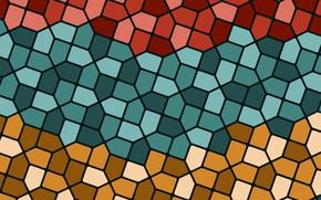 Картинка фон, текстура, геометрия, background, mosaic, Retro