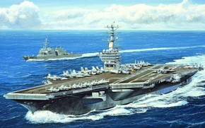 Картинка ВМС США, американский авианосец, USS Nimitz, US NAVY, CVN-68