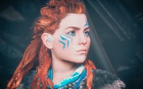 Картинка девушка, лицо, портрет, Aloy, Horizon Zero Dawn