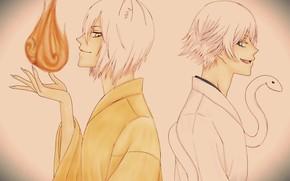Картинка огонь, парни, Kamisama Hajimemashita, Очень приятно Бог, Томое