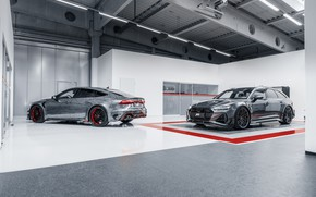 Картинка Audi, пара, ABT, универсал, Sportback, Avant, RS6, RS7, 2020, RS6-R, RS7-R