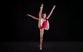 Картинка girl, long hair, beautiful, pretty, brunette, attractive, handsome, ballet, posture, ballerina, ballet dancer, ballet outfit