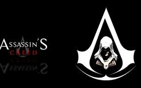 Картинка Assassin's Creed, эмблема, чёрный фон