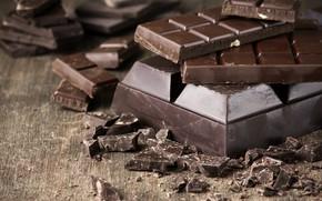 Картинка макро, шоколад, плитки