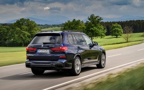 Картинка BMW, кроссовер, SUV, на дороге, 2020, BMW X7, M50i, X7, G07