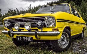 Картинка car, Yellow, classic, Opel Kadett