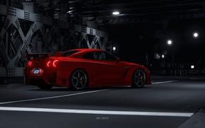 Картинка Красный, Авто, Машина, Japan, Nissan, GT-R, Nissan GT-R, GT-R R35, Transport & Vehicles, by JREEL, …