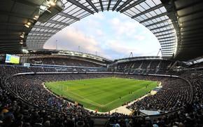Картинка футбол, стадион, Манчестер Сити, Manchester City, Etihad Stadium, Этихад