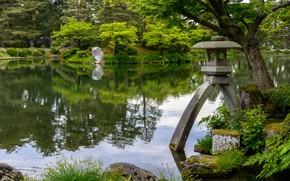 Картинка Природа, Япония, Пруд, Берег, Парк