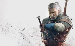 Картинка меч, мужчина, ведьмак, The Witcher 3: Wild Hunt, Ведьмак 3: Дикая Охота
