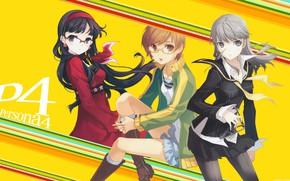 Картинка девушки, игра, аниме, арт, Persona 4, персона