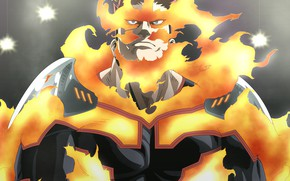 Картинка огонь, мужик, Boku no Hero Academia, My Hero Academia, Моя геройская акадеимя, Тодороки