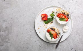 Картинка ягоды, мюсли, йогурт, Vadim Zakirov