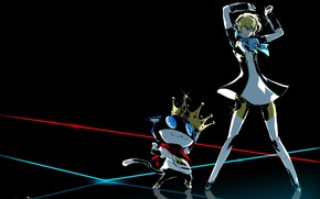 Картинка кот, девушка, танец, Persona 5 Dancing in Starlight