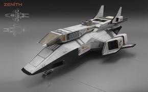 Картинка конструкция, модель, зенит, аппарат, zenith spaceship exterior