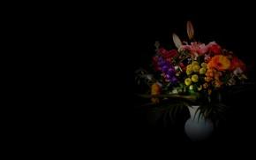 Картинка фон, букет, ваза