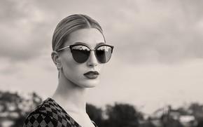 Картинка девушка, портрет, очки, Hailey Baldwin