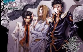 Картинка парни, трио, друзья, персонажи, Kazuya Minekura, Saiyuki Reload