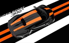 Картинка Bugatti, вид сверху, гиперкар, Chiron, 2019, Super Sport 300+