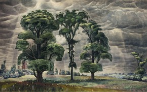 Обои The Three Trees, 1931-46, Charles Ephraim Burchfield