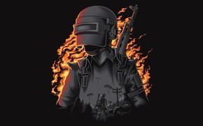 Картинка фон, солдат, шлем, PlayerUnknown's Battlegrounds