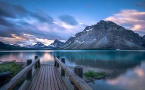 Обои озеро, Канада, Bow Lake