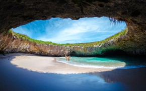 Картинка sea, cave, Costa Rica, Escondido Beach
